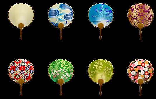 Japanese Fans, Japanese Pattern, Fan, Sakura, Bamboo