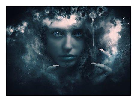 Fantasy, Portrait, Fantasy Portrait, Lady Death, Nails