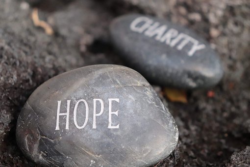 Stone, Charity, Rock, Hope, Gray Rock