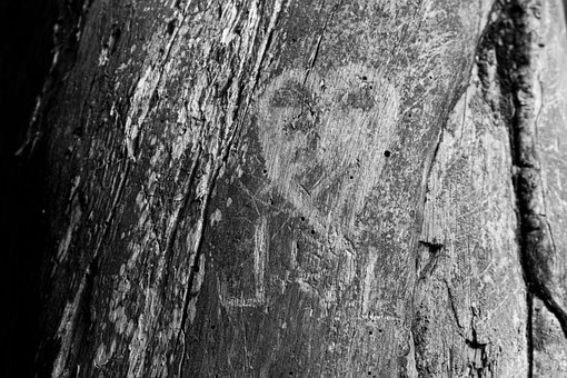 Love, Carving, Wood Carving, Carved, Heart, Romance