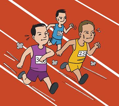 Myanmar, Burma, Race, Run, Track, Man, Men Running