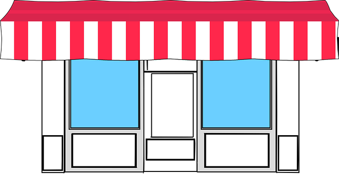 Awning, Store, Shop, Retail, Business, Market, Icon