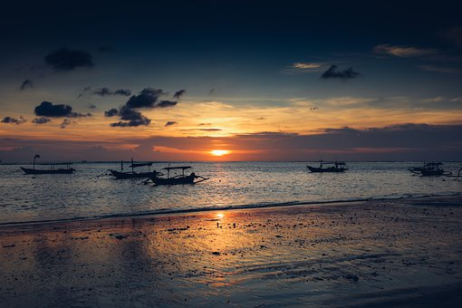 Sunset, Sun, Beach, Sea, Landscape, Sunrise, Nature