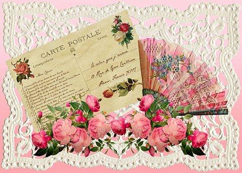 Vintage Valentine, Paper Retro, Post Card