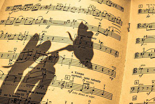 Music Sheet, In A Shadow, Flute, Piano, Pattern