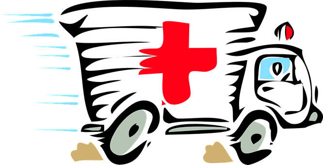 Ambulance, Paramedic, Red, Cross, Doctor