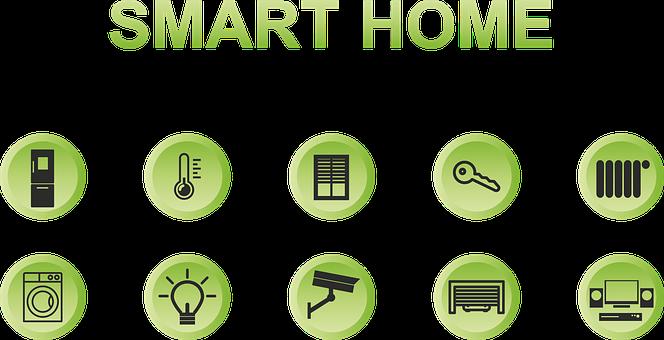 Smart Home, Button, Green, Refrigerator, Temperature