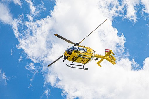 Rescue Helicopter, Helicopter, Clouds, Doctor On Call