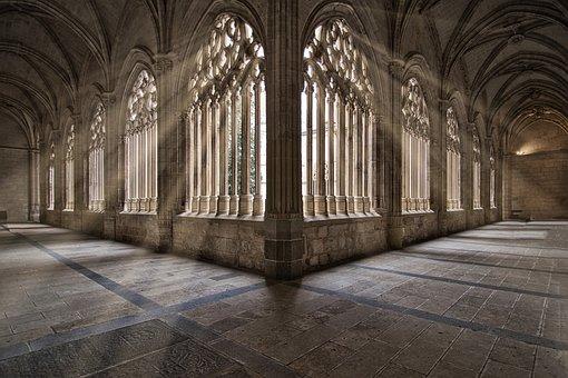 Light, Architecture, Shadows, Church, Pillars, Baroque