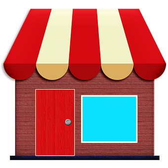 Store Icon, Awning, Exterior, Shop, Facade, Storefront