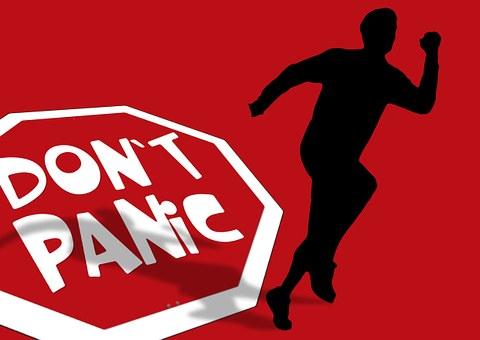 Silhouette, Man, Race, Run, Running Away, Panic, Fear