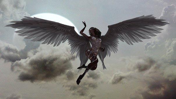 Angel, Sky, Heaven, Paradise, Dramatic, Tokmakov, Sexy