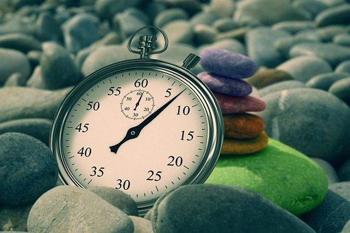 Stopwatch, Time, Stone, Balance, Meditation, Live