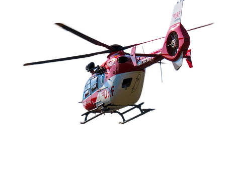 Helicopter, Flying, Isolated, Rescue Helicopter, Use