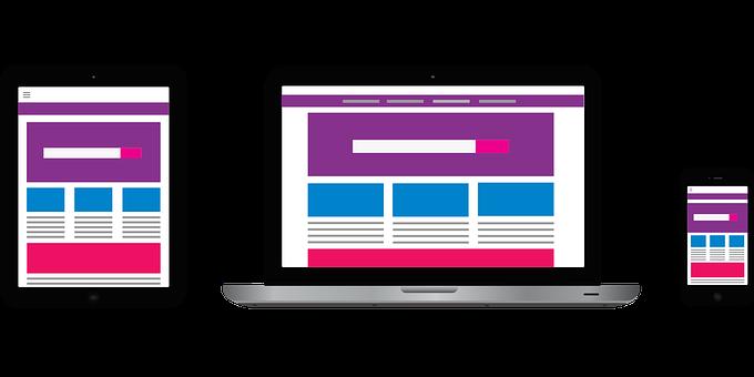 Mobile Devices, Website, Mockup, Web, Web Design
