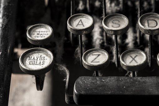 Typewriter, Alphabet, Letter, Writer, Writing, Author