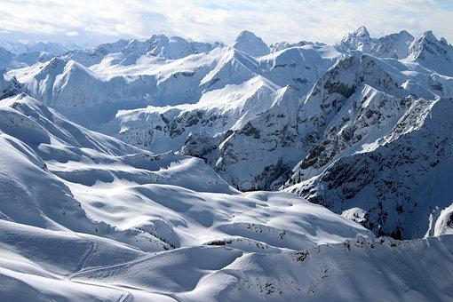 Alpine, Allgäu, Austria, Mountains, Snow, Snow Summit