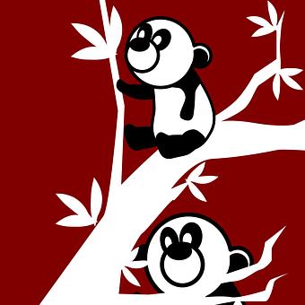 Pandas, Animals, Mammals, Small, Little, Baby, Black