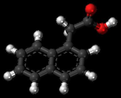 Naphthaleneacetic, Hormone, Aromatic, Cyclic, Ball