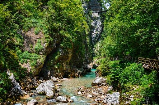 Creek, Rock, Water, Pure, Blue, Mountain, Nature