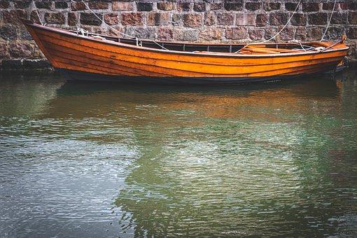Boat, Wooden Boat, Water, Landscape