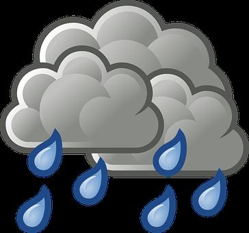 Rain, Heavy Rain, Cloudy, Rainy, Drops, Raindrops