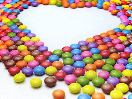 Smarties, Colorful, Color, Heart, Chocolate, Sugar