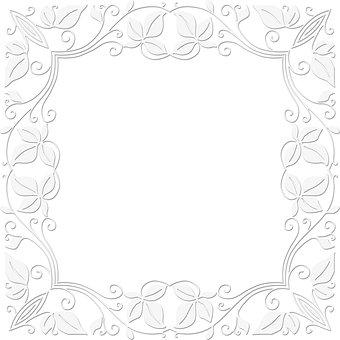 White Border, Frame, White Frame, Ornament, Decoration