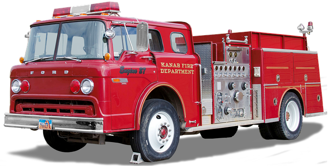Ford, 6000, Firefighter Vehicle, Free And Edited, Usa