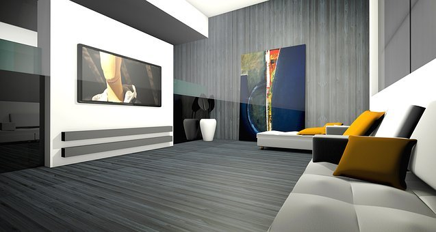 Living Room, Apartment, Graphic, Rendering