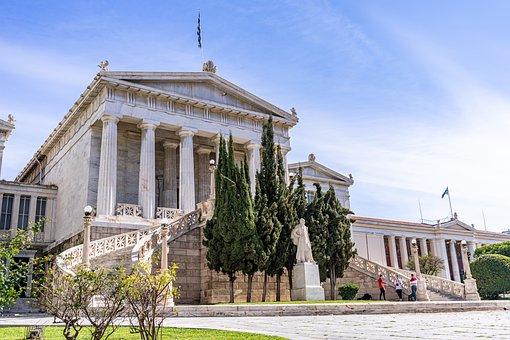 University, Greece, Athens, Building, Architecture