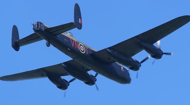 Lancaster Bomber, Warplane, Ww2, Dam Busters, Flight