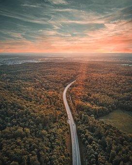 Sky, Road, Drone, Nature, Away, Landscape, Target