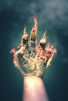 Hand, Fire, Finger, Burn, Flame, Light, Hands, Hot