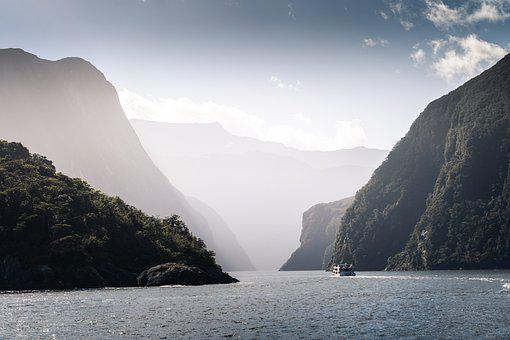 Fiordland, Ferry, Fiord, Nz, Cruise, Ship, Water, Sea
