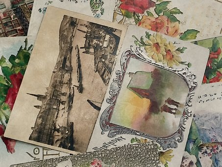 Old, Post, Cards, Vintage, Collection, Antique