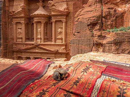Petra, Jordan, Treasury, Sand Stone, Monument, Culture