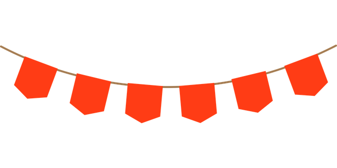Red Bunting, Banner, Flag, Bunting, Red, Design