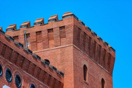 Brick, Tower, Building, Roof, Architecture, Masonry