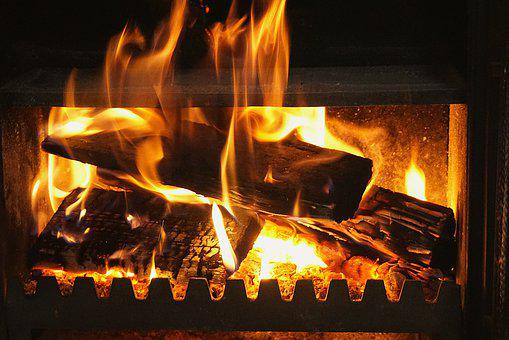 Fireplace, Fire, The Flame, Censer, Shine The Light