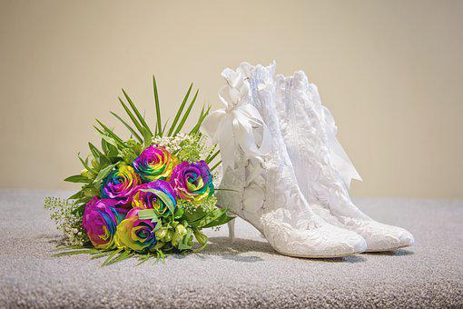 Wedding, Shoes, Heels, Bride, Marriage, Bridal, Style