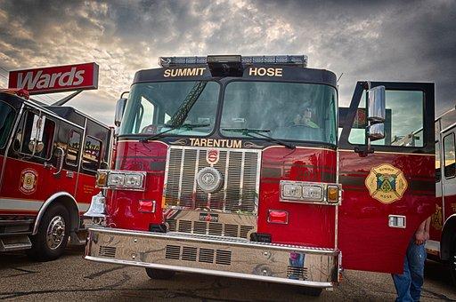 Firefighter, Firetruck, First Responder, Red, Truck