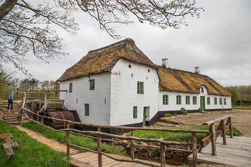 Water Mill, Old, Mill, Water, Building, History