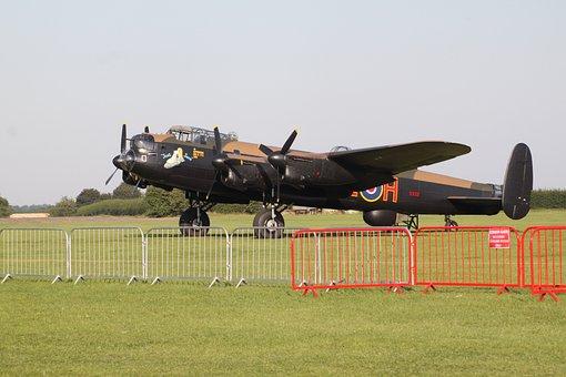 Lancaster, Aeroplane, Airplane, Bomber, Ww2, Aircraft