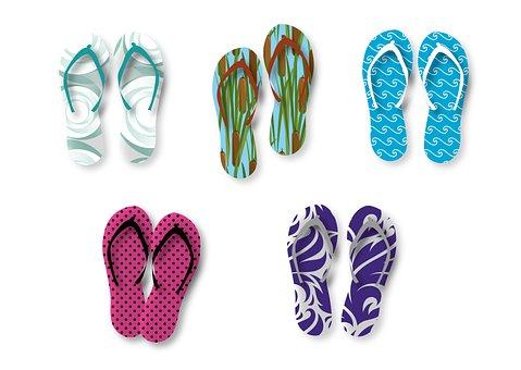 Flip Flop, Shoes, Summer, Beach, Vacations, Sandal