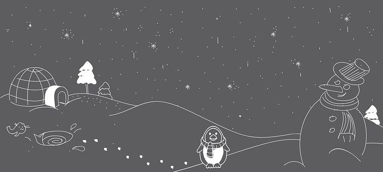 Winter Illustration, Snowman, Christmas, Cold, Winter