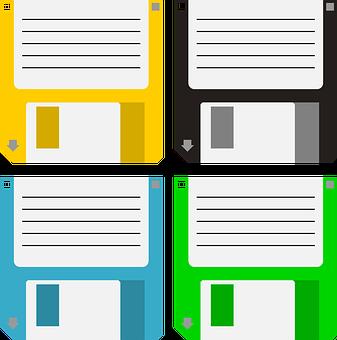 Floppy, Disk, Data Storage, Old, 1 44 Inches
