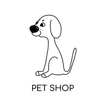 Pet, Dog, Veterinary, Puppy, Shop, Logo, Kitten, Design