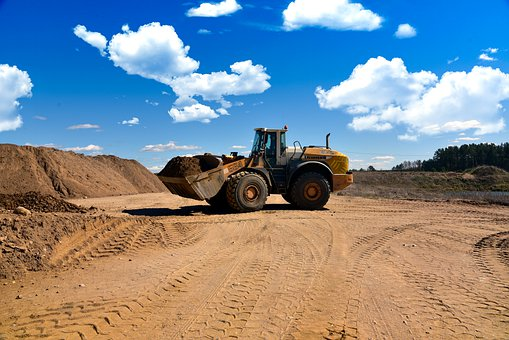 Excavator, Heavy Equipment, Gravel Pit, Screening Plant