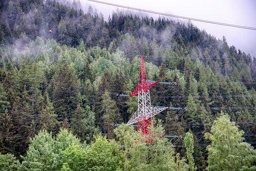 Landscape, Forest, Mountain, Rain